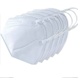 KN95 N95 Respirator Disposable Face Mask , Disposable Non Woven Face Mask White Color